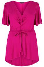 Scarlett & Jo Angel Sleeve Pink Knot Front Tunic