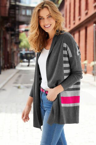 Stripe Colour Block Cardigan