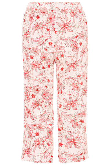 Floral Cotton Cropped Trousers