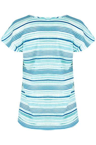 Stripe Linen Look T-Shirt