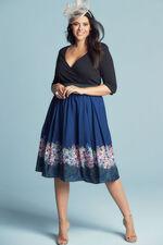 Scarlett & Jo Border Print 2 in 1 Dress