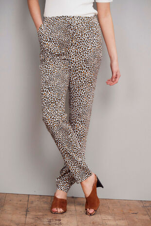 Salvari Leopard Print Pull On Trouser