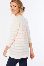 Sheer Stripe Cardigan