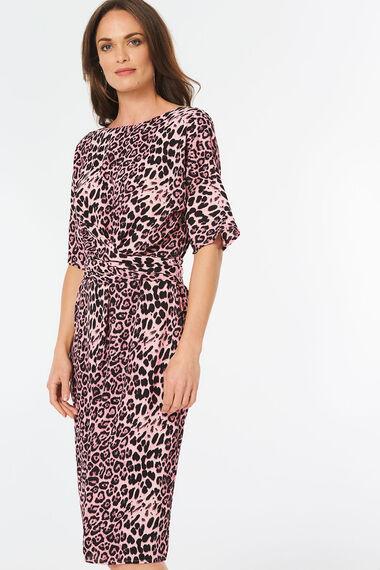 Leopard Tie Waist Dress