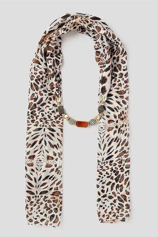 Muse Leopard Print Jewellery Scarf