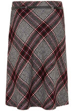 Belted Check A Line Skirt