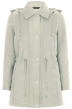 Soft Touch Padded Coat with Embroidery