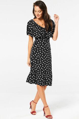 Spot Frill Dress