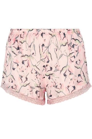 Tulip Print and Lace Trim Cami & Short Pyjama Set