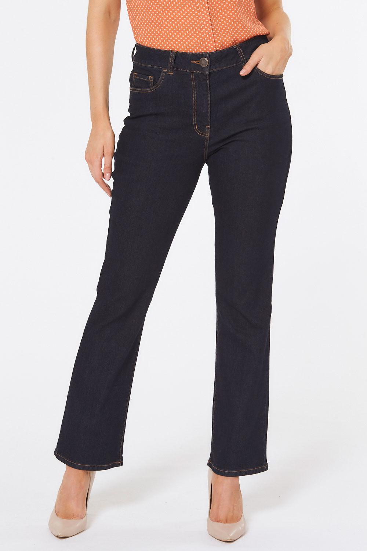Women Low Rise Boot Leg Jeans Denim Size 6 8 9 10 11 12 NEW Rinse Wash