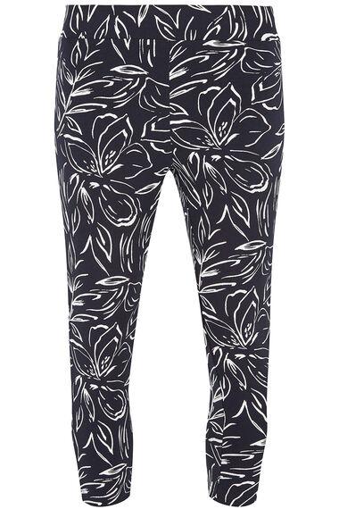 Stencil Floral Crop Legging