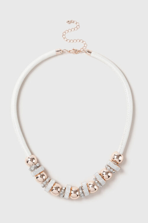 Muse Facet Bead and Glitter Station Necklace