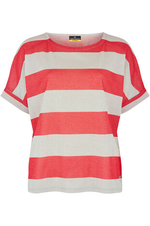 NVC Activewear Shimmer Stripe Top