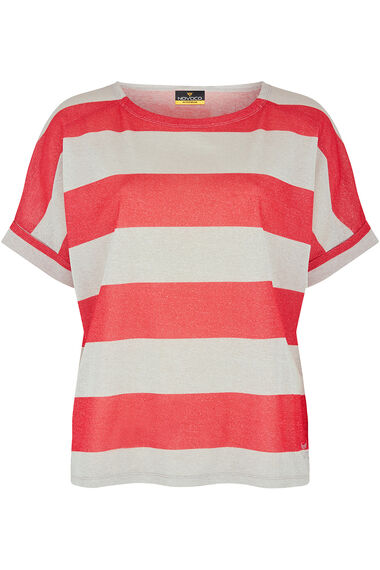 NVC Activewear Shimmer Stripe Top