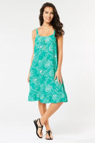 Turqoise Frill Sun Dress