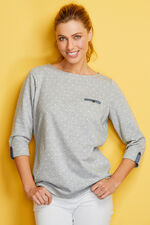Spot with Chambray Detail Sweat