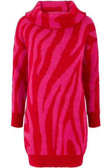 Join Us Zebra Pattern Tunic Jumper