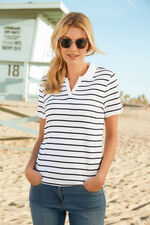 Stripe Polo Short Sleeve T-Shirt