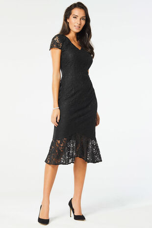Peplum Lace Dress