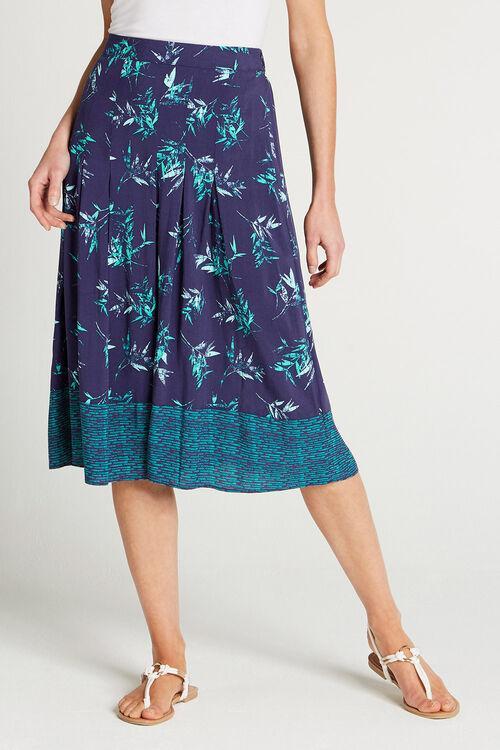 Bamboo Printed A line Skirt