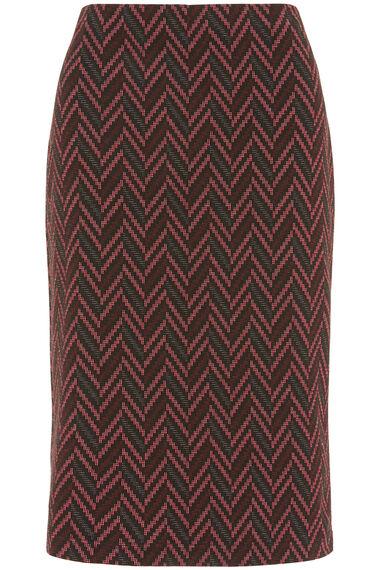 Printed Ponte Pencil Skirt