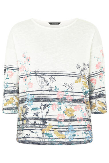 Riveria Border Print Sweat