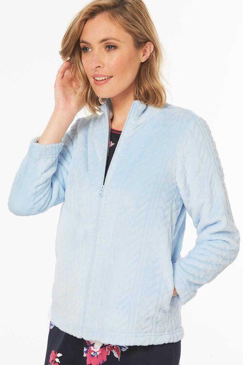 Cable Fleece Zip Thru Bed Jacket