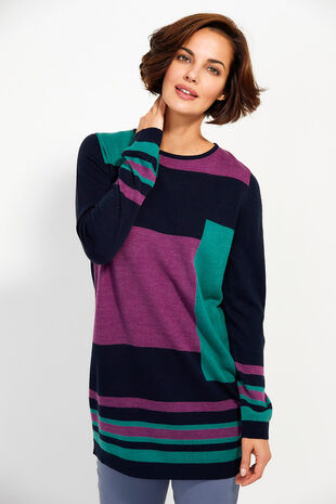 Supersoft Colourblock Tunic