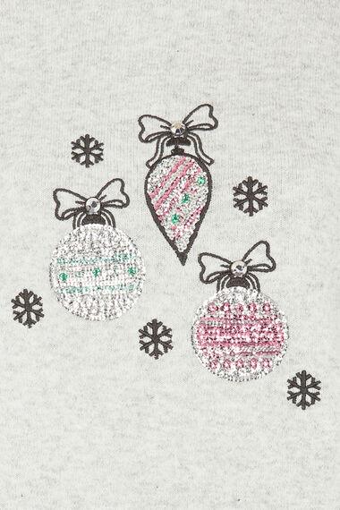 Sequin Bauble Christmas Jumper