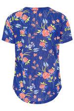 Floral Burnout Print T-Shirt