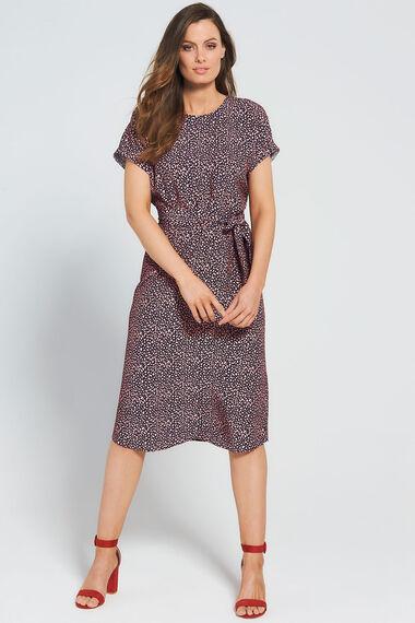 Grace By Eda Pebble Print Shift Dress