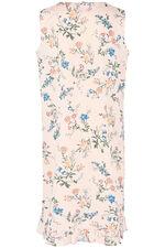 Lace Trim Ruffle Nightdress