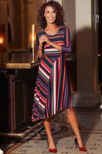 Striped Asymmetrical Dress