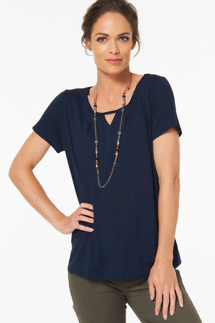 Plain Keyhole Pleat Top