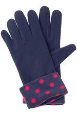 Spot Scarf and Glove Fleece Set