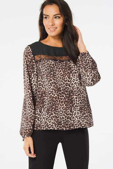 Animal Print Blouse