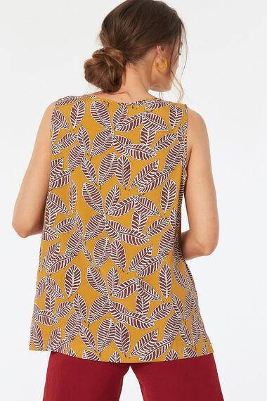 Leaf Printed Vest