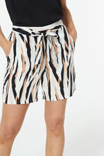 Zebra Print Belted Short