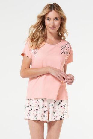 Embroidered Pyjama Short Set