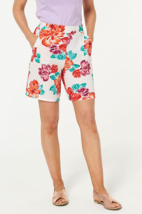 Floral Crepe Short