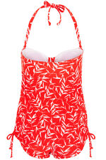 Bamboo Printed Mock Tankini Swimsuit