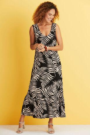 Printed Jersey Maxi Dress
