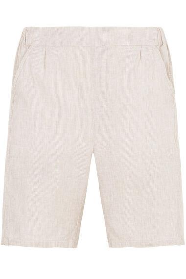 Stripe Linen Blend Shorts
