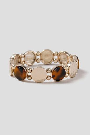 Muse Tortoiseshell & Bead Stretch Bracelet