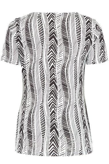Square Neck Tribal Print T-Shirt