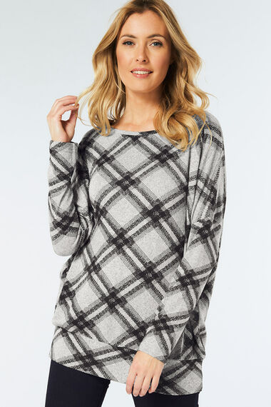 Stella Morgan Check Print Top