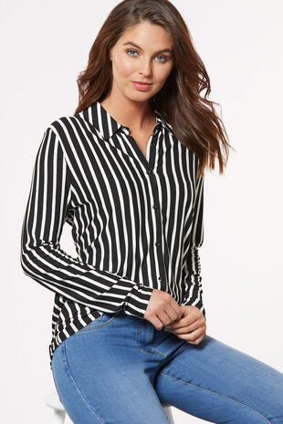 Wide Stripe Jersey Shirt