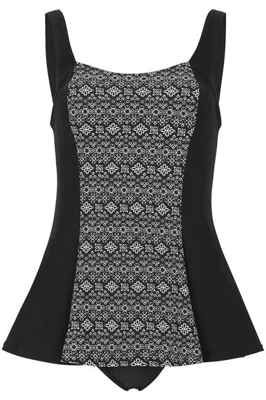 ce692c0ef71 Geometric Centre Print Swim Dress