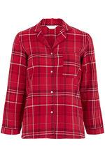 Red Woven Check Button Pyjama