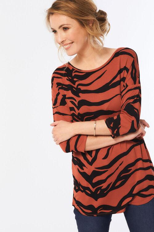 Tiger Print Jersey Tunic